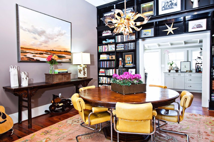 yellow 15 Dining Areas with Yellow Dining Chairs Retro Decorating Style 2