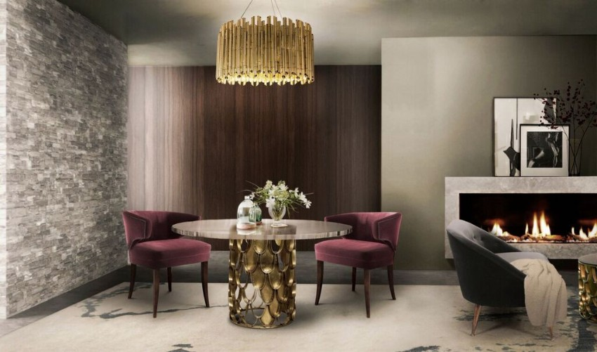 gold Luxury Dining Room with Golden Features aebc7d386ec8339baf3179005053f3dd
