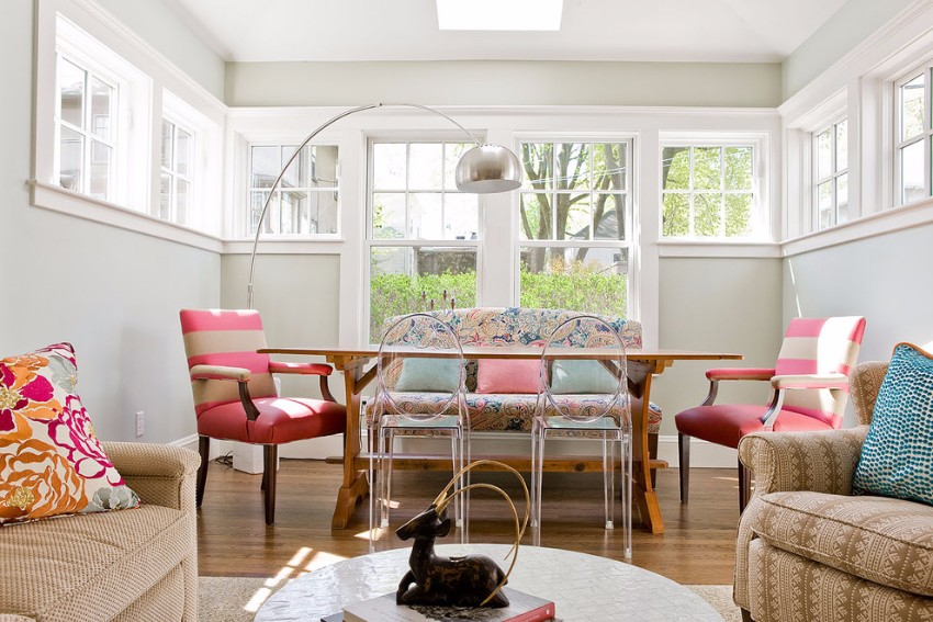 Arc Lamp Improve Your Dining Room With A Scenic Comfy Area