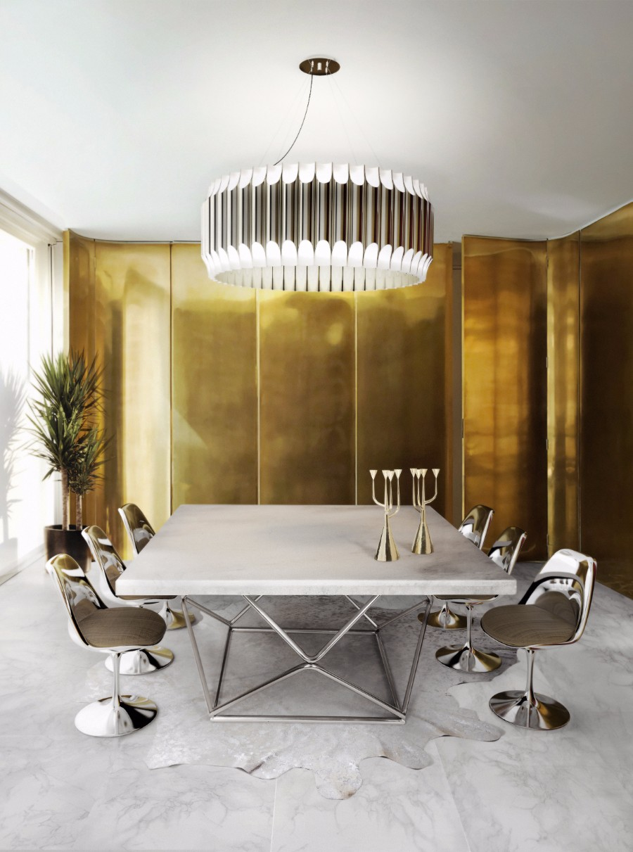 dining room 25 Dazzling Modern Dining Rooms delightfull galliano unique ceiling lamp contemporary chandelier 1