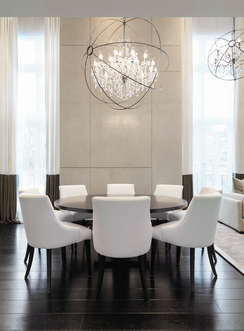 Dining room ideas by kelly hoppen for Contemporary dining room table