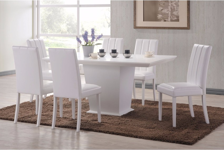 white dining chair White Dining Chairs that Will Upgrade your Dining Area feather