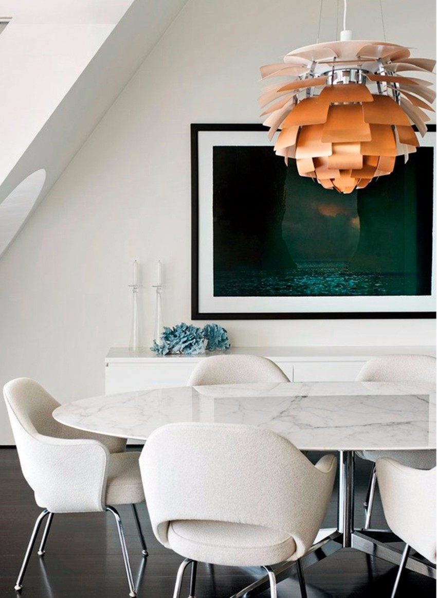 white 10 Contemporary White Dining Rooms franka2