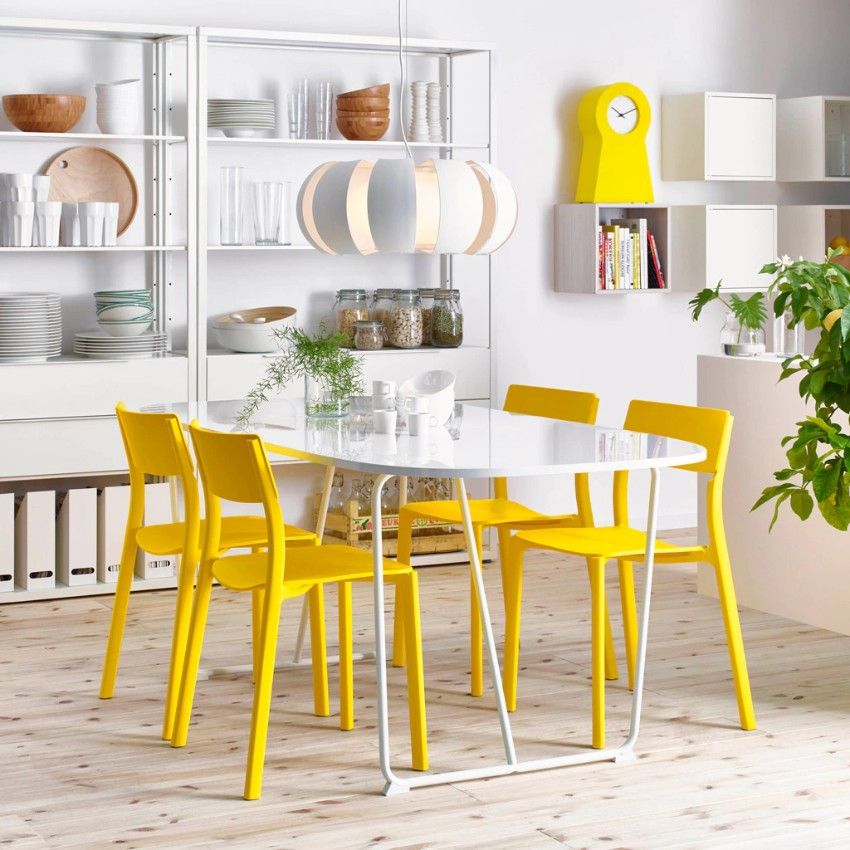 yellow 15 Dining Areas with Yellow Dining Chairs ikea a sunny space for celebrating or just having breakfast  1364308409238 s4