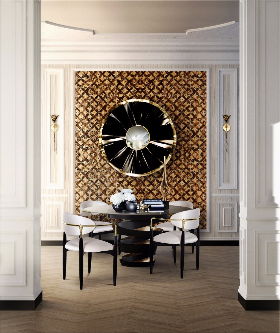 dining room dining room 25 Dazzling Modern Dining Rooms koket nahema chair koket projects