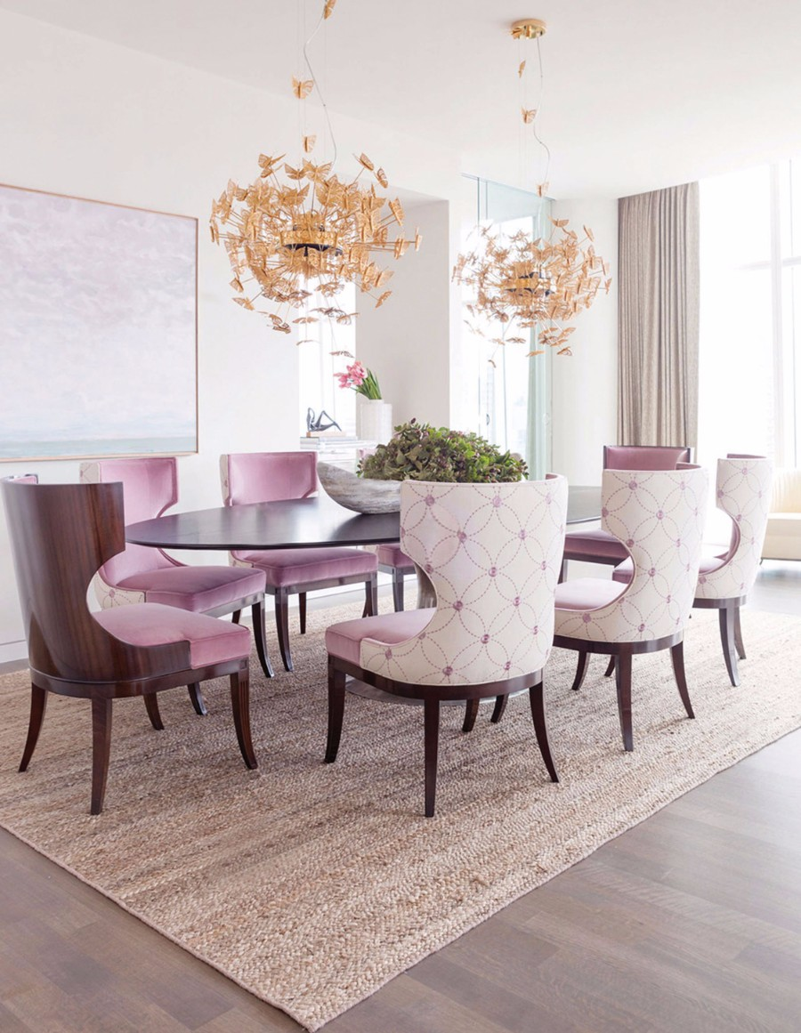 dining room dining room 25 Dazzling Modern Dining Rooms koket nymph chandelier 1 koket projects