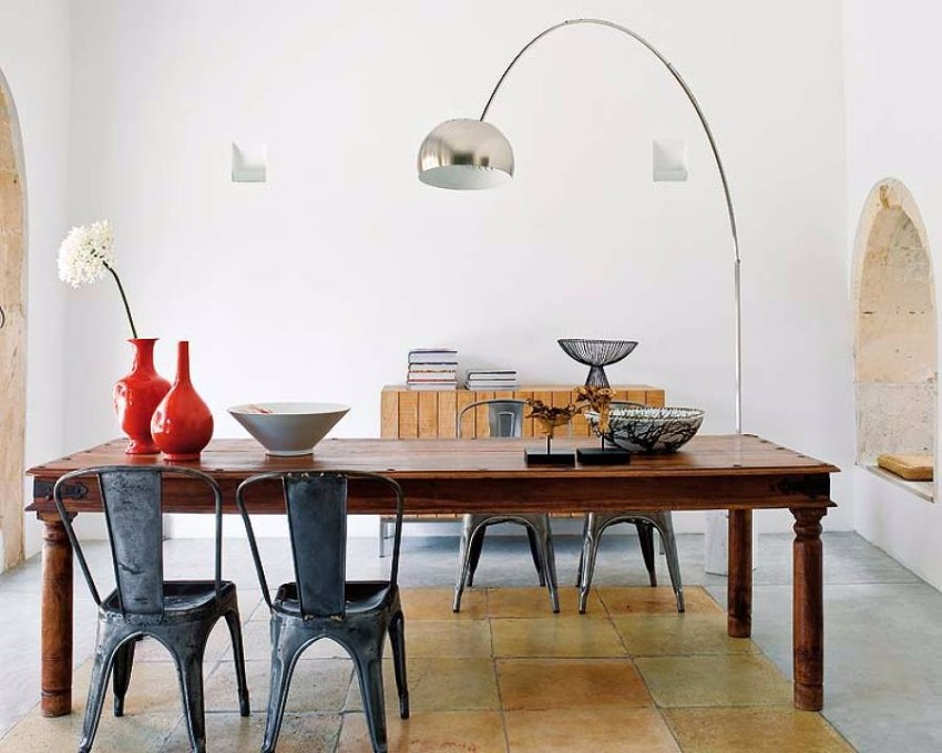 arc lamp Improve your Dining Room with a Scenic Arc Lamp lampara arco 927283