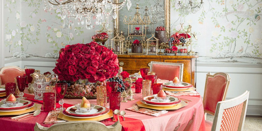 valentine How to decorate your dining room for Valentine's Day landscape 1453508099 rose table setting