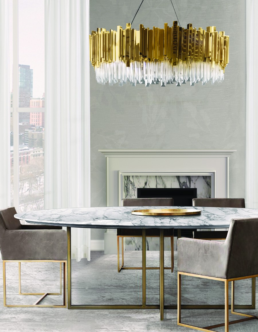 dining room dining room 25 Dazzling Modern Dining Rooms luxxu empire suspension cover