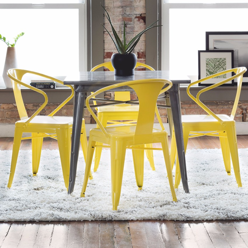 yellow 15 Dining Areas with Yellow Dining Chairs salle a   manger jaune10