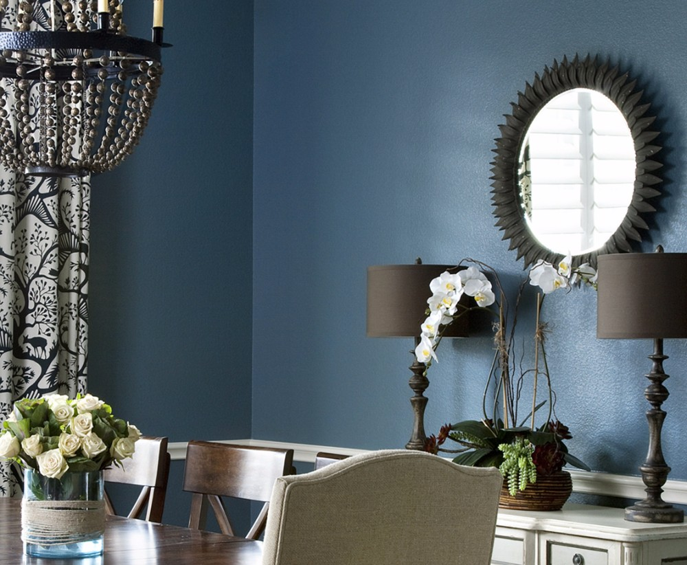 dining room 15 Best Colors for Dining Rooms 03 bold paint