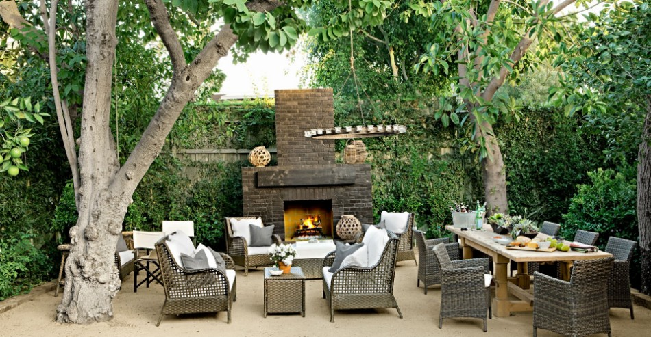 outdoor dining room Striking Outdoor Dining Room Ideas 54bf8e39cb328   16 hbx brick outdoor fireplace tobin 0513 s2