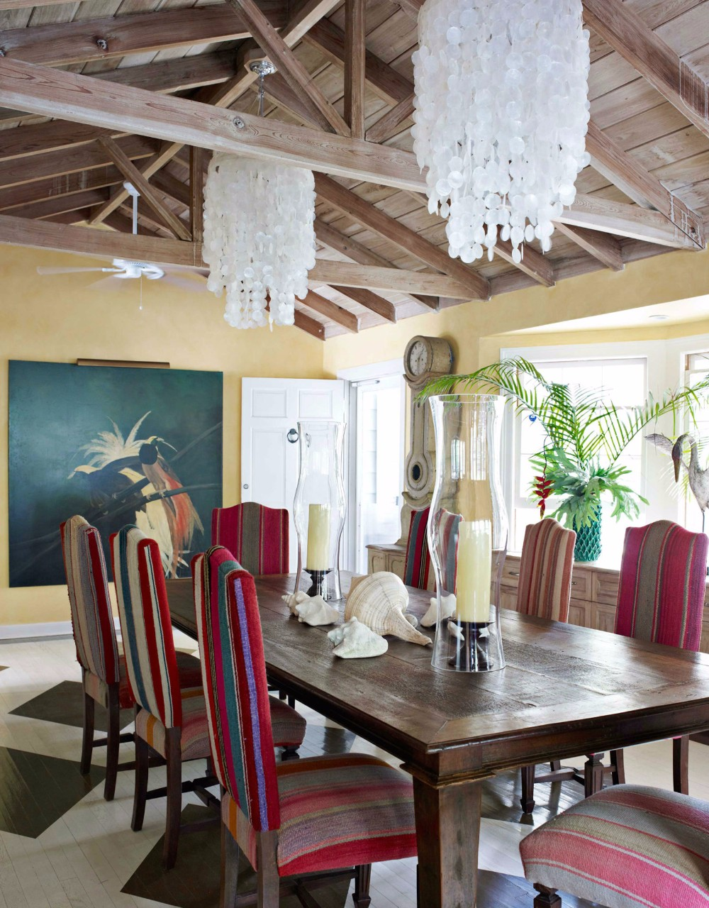 dining room 15 Best Colors for Dining Rooms 54c0d5646b4ae   bx peruvian wedding blanket chairs pulitzer calhoun 0613 s2
