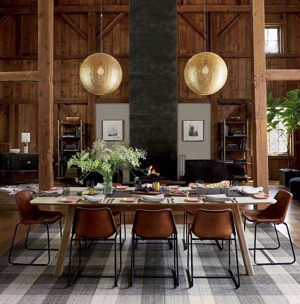 gray Gray and Wood: A Match Made in Design Heaven for your Dining Room Grey meets wood in this room designed by CB2