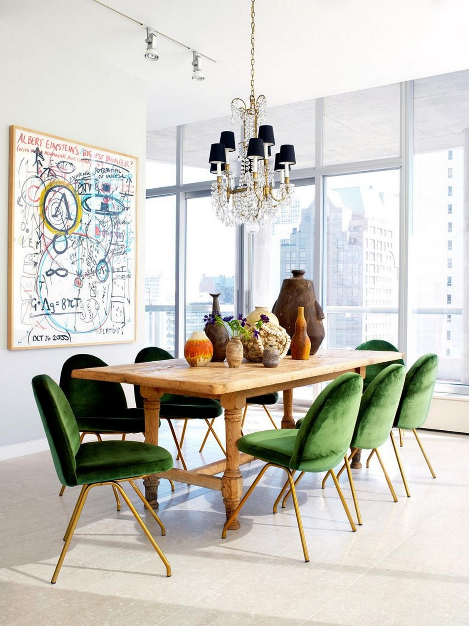 How To Mix And Match Chairs With Your Dining Table - Traditional dining table with contemporary chairs