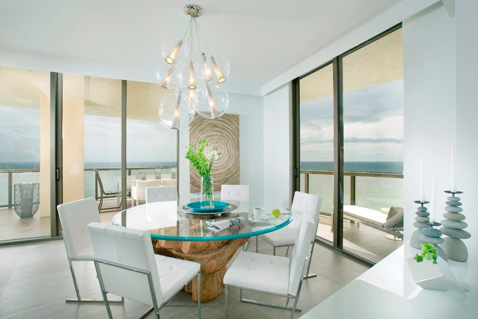 dining room 10 Dining Rooms With A Picturesque Ocean View Kitchen Seaside Style Dining Room