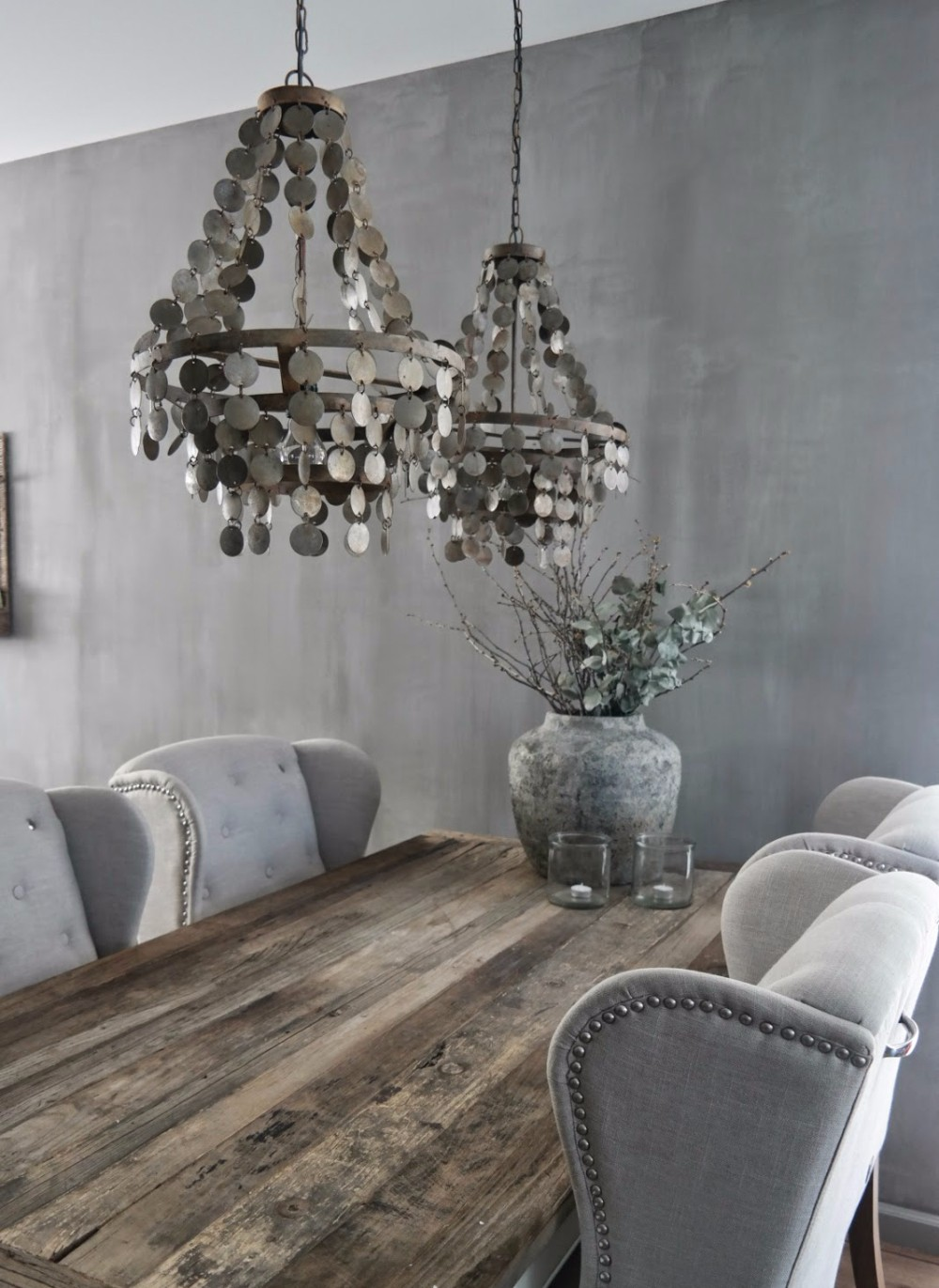 gray Gray and Wood: A Match Made in Design Heaven for your Dining Room SAM 1255