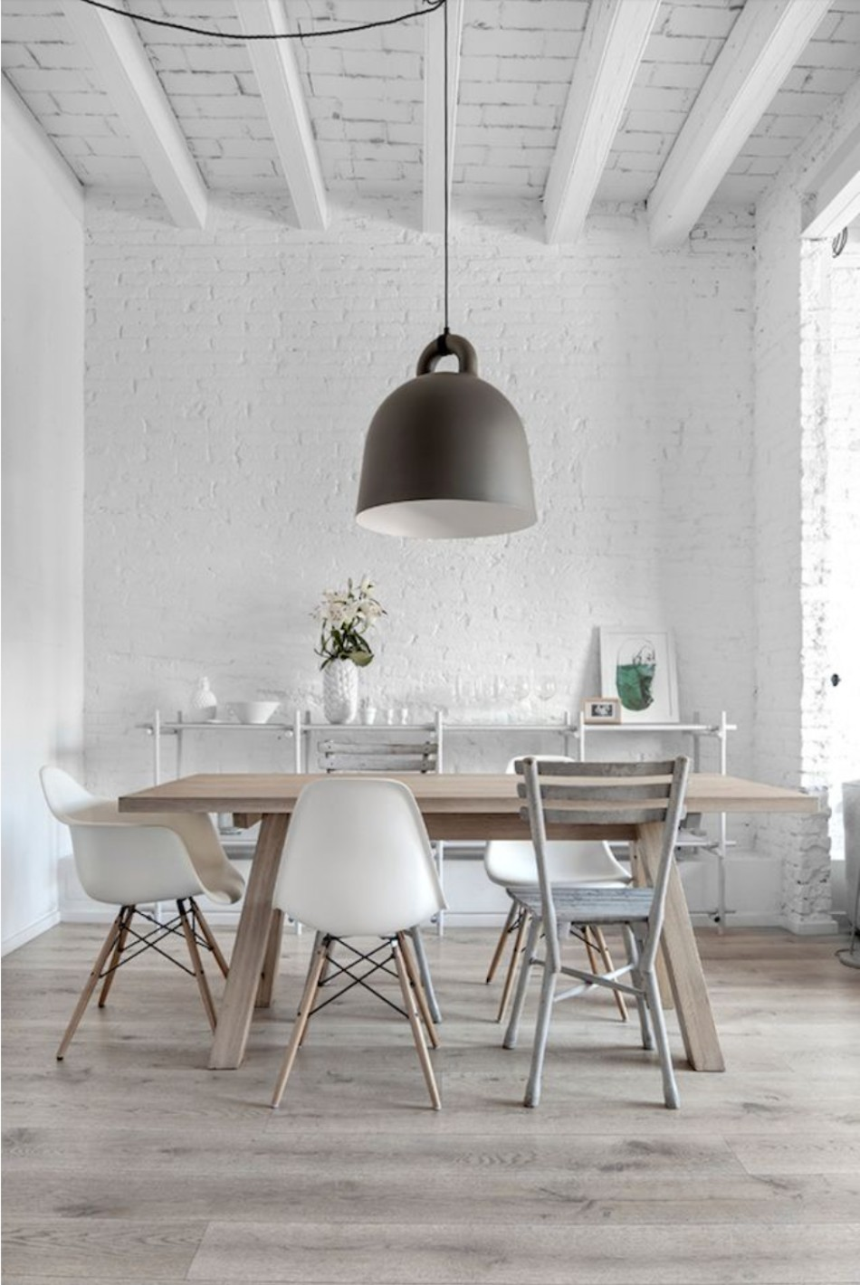 gray dining room 15 Graceful Gray Dining Room Ideas TheDesignChaser Pendant