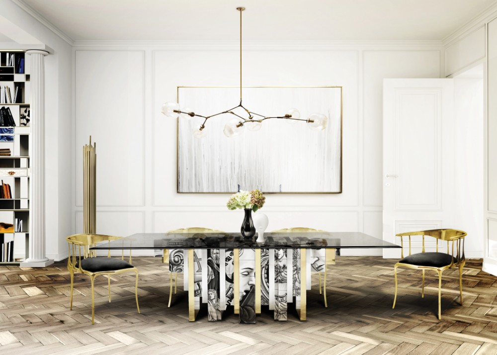 dining room 15 Best Colors for Dining Rooms boca do lobo cenario 6   mesa heritage final Recovered 1