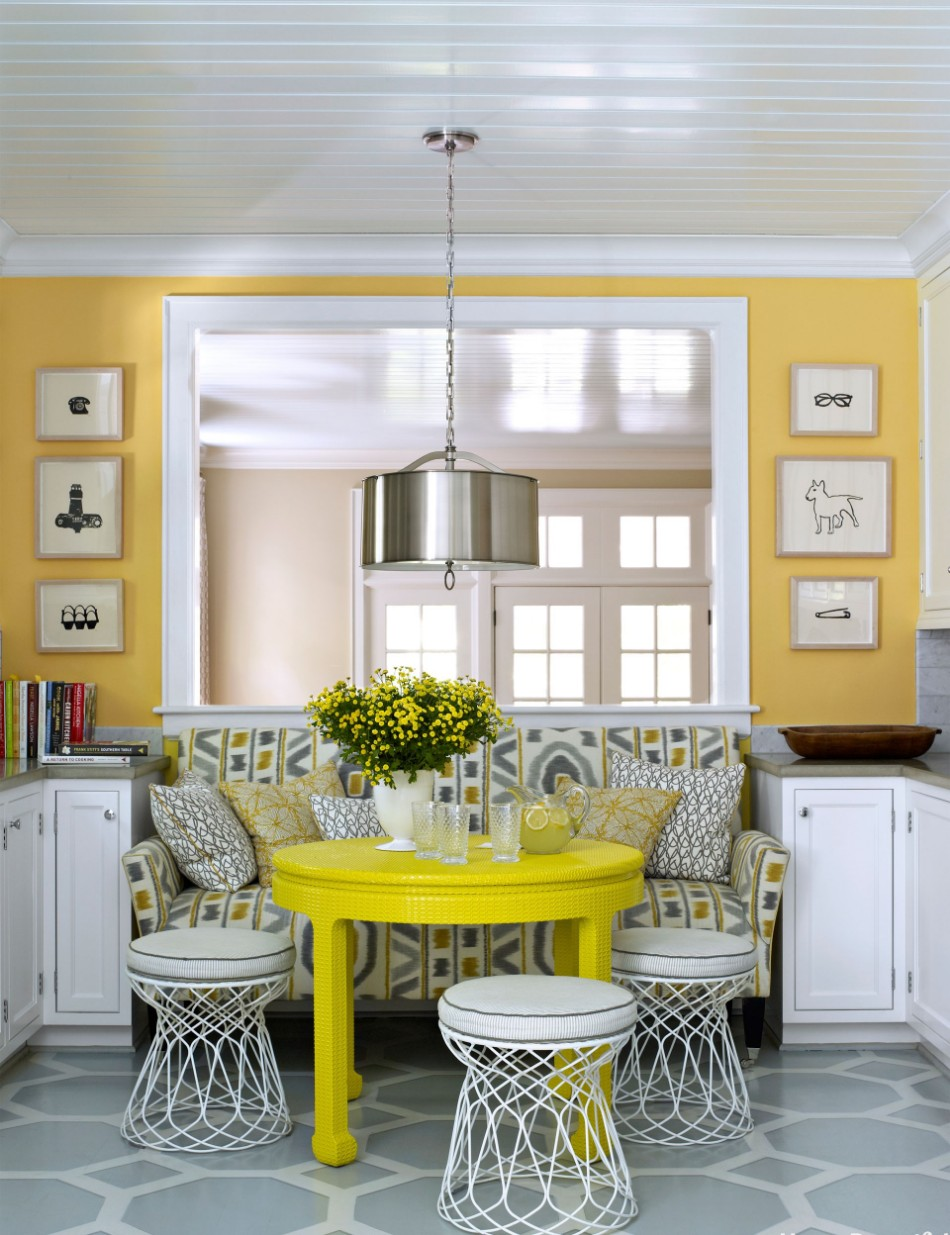 colors 10 Colors That Look Amazing In The Dining Room Area bright yellow