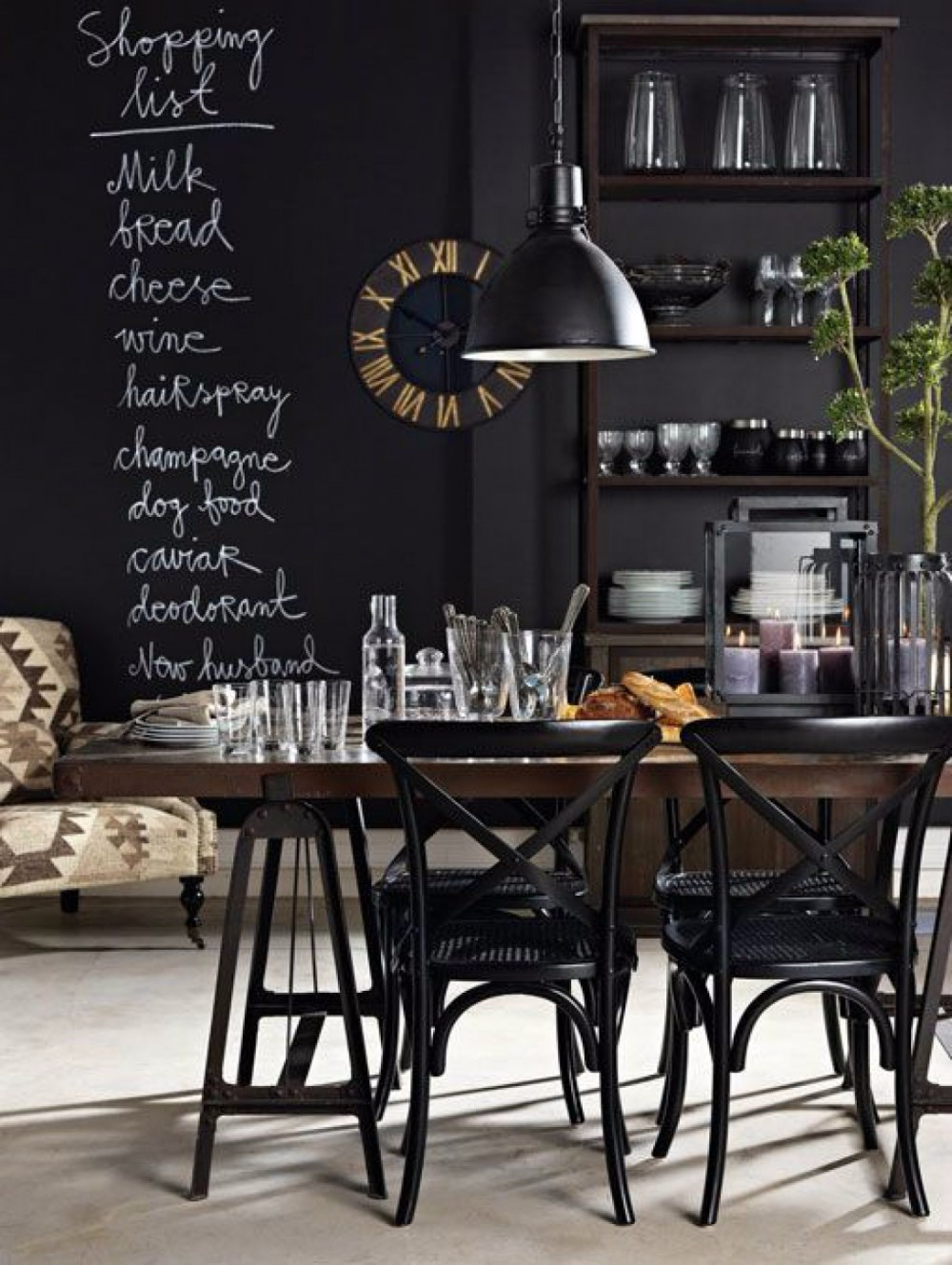 10 chalkboard dining room designs