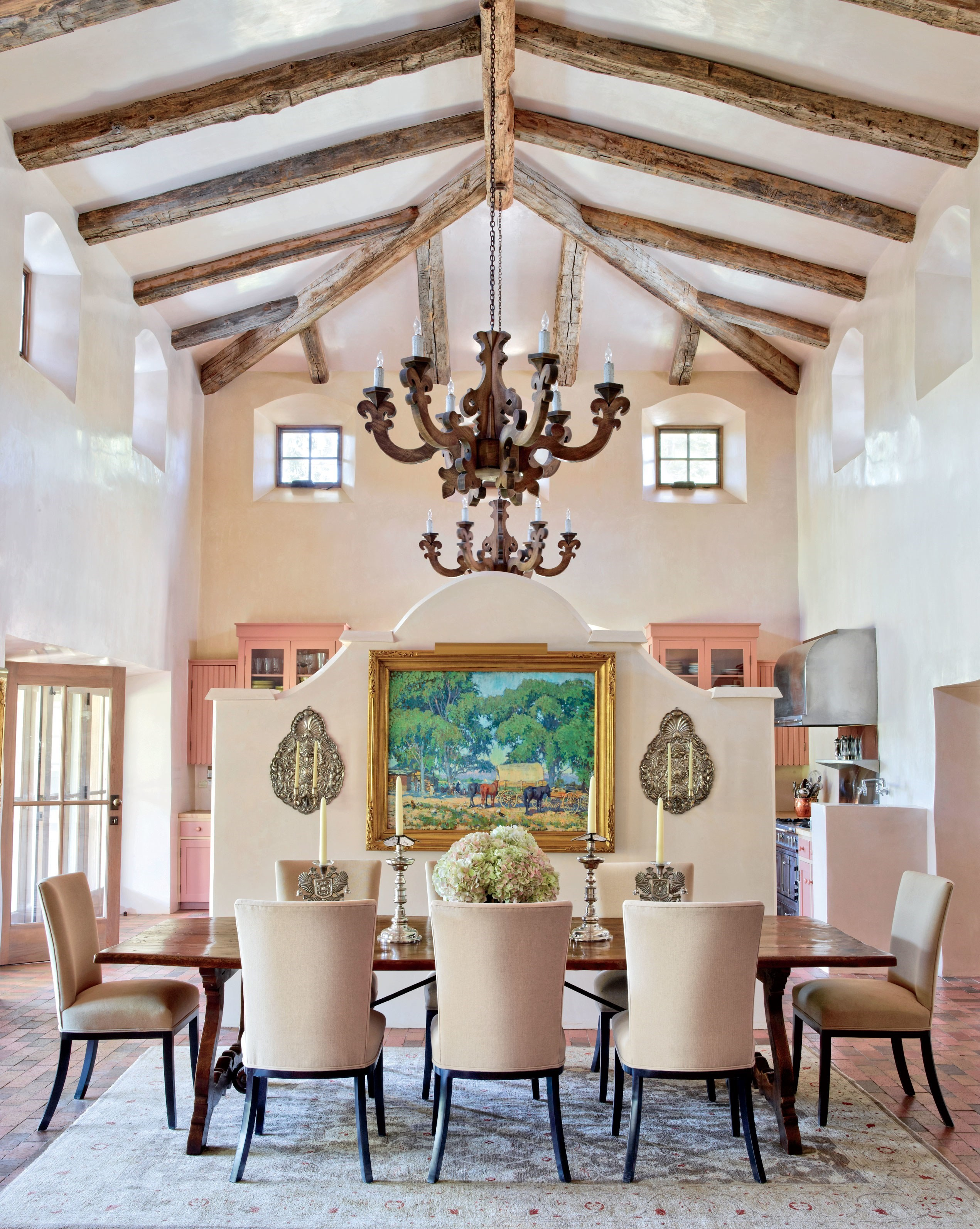 celebrity dining room 10 Celebrity Dining Rooms That You Will Love jane fonda