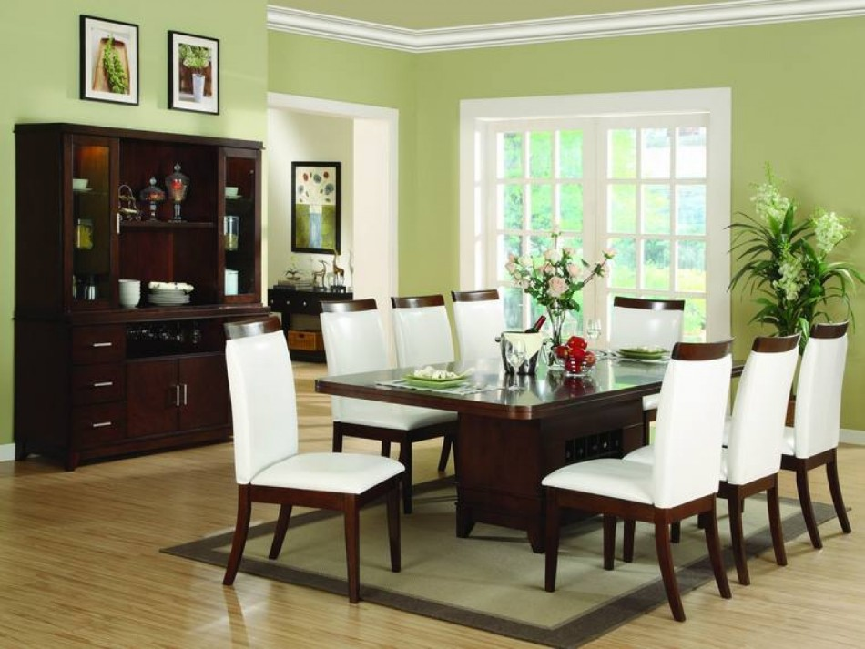 10 colors that look amazing in the dining room area - Pale green dining room ...