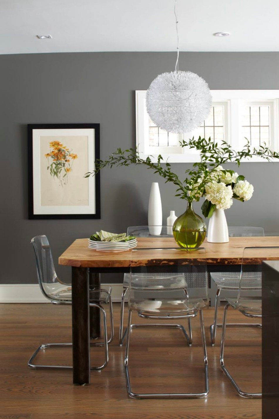 gray dining room 15 Graceful Gray Dining Room Ideas mh b 3
