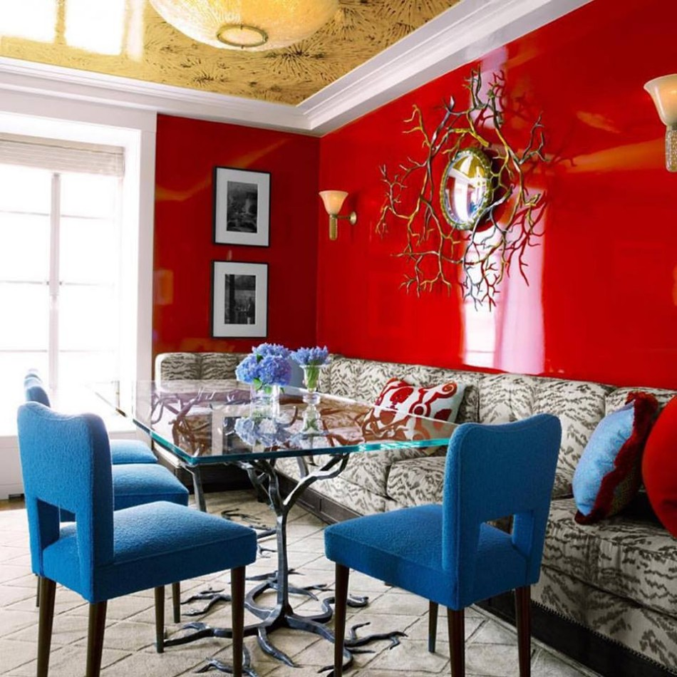 colors 10 Colors That Look Amazing In The Dining Room Area red