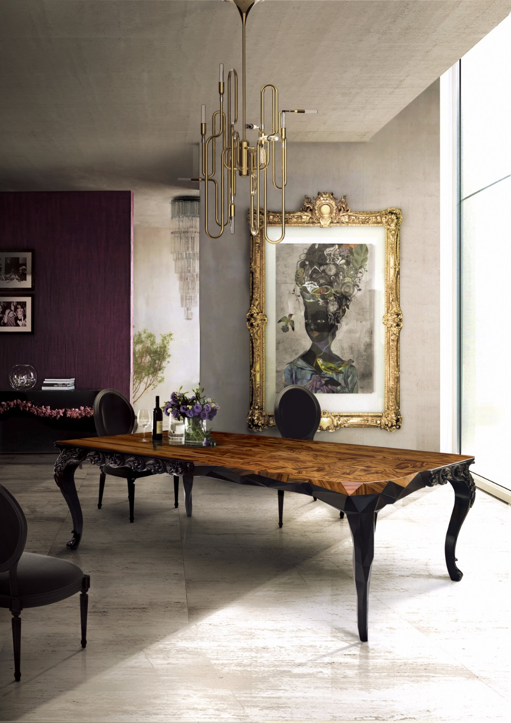 oak dining table 10 Oak Dining Tables that you need for your Dining Room royal by boca do lobo