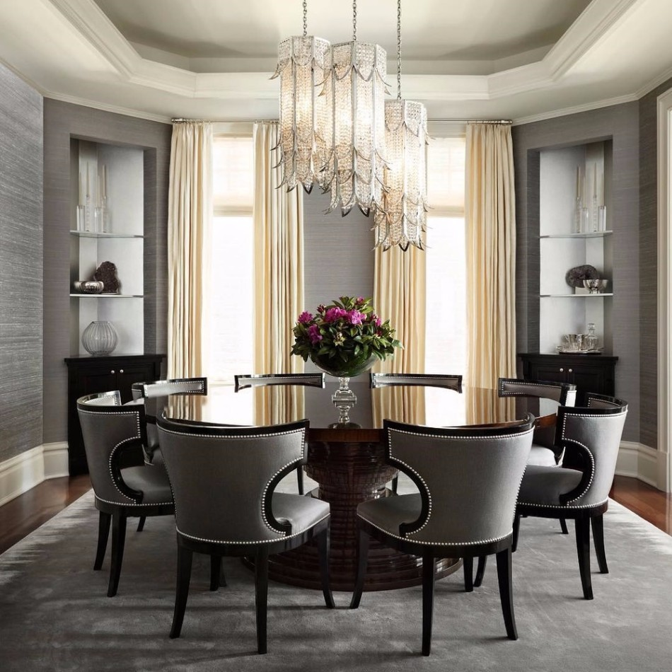 gray dining room 15 Graceful Gray Dining Room Ideas transferir