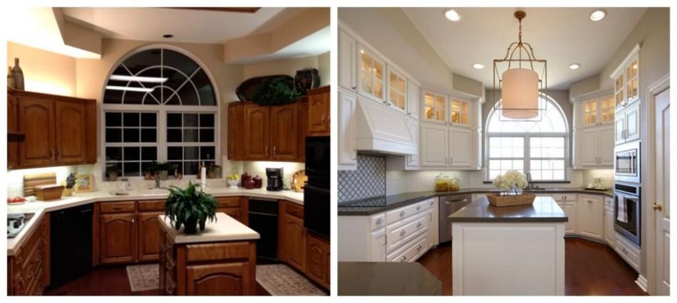 Dining Room transformation Before & After: 10 Amazing Dining Room Transformations 54c17898b3039   02 hbx dated kitchen makeover de