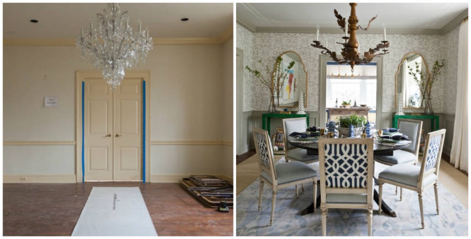 Dining Room transformation Before & After: 10 Amazing Dining Room Transformations 54c1789e549db   22 hbx blank dining room de xln