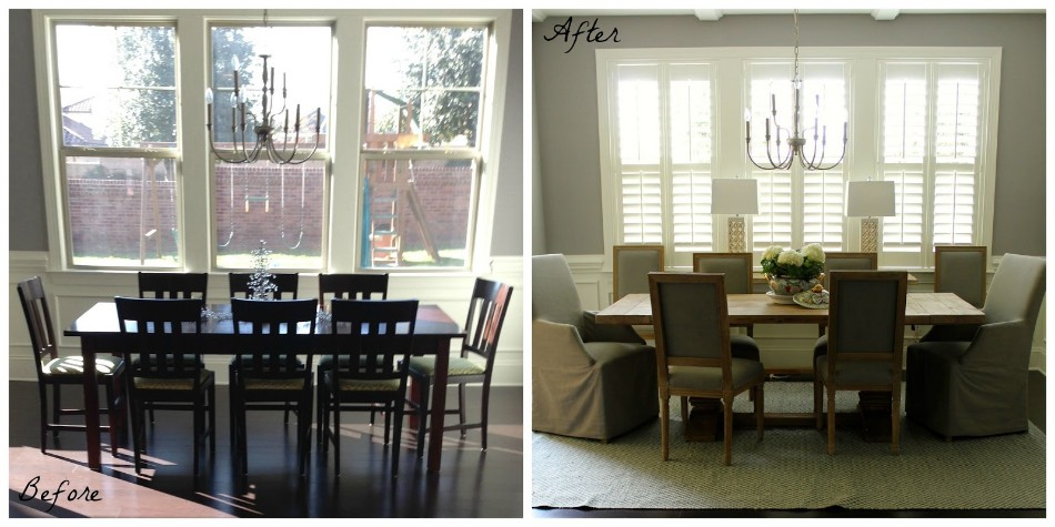 Dining Room transformation Before & After: 10 Amazing Dining Room Transformations dining room before and after