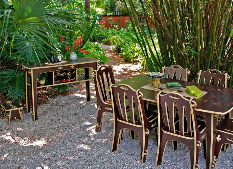 eco-friendly dining room Go Green: 10 Ideas For An Eco-friendly Dining Room green furniture outdoor