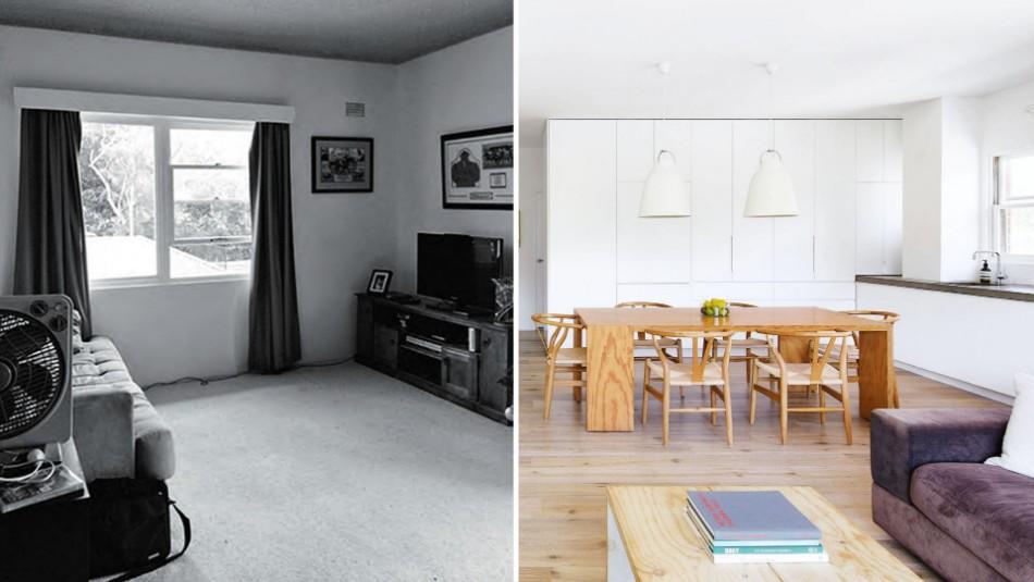 Dining Room transformation Before & After: 10 Amazing Dining Room Transformations living dining before after nov15 20151029095941 q75dx1920y u1r1g0c