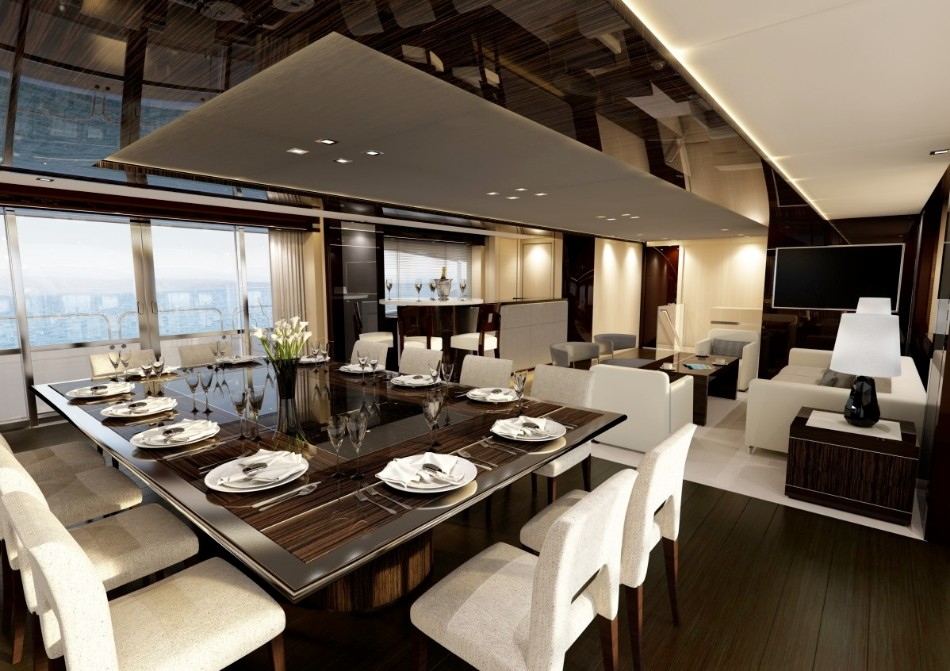 yacht dining table Get Amazed With These Luxurious Yacht Dining Tables 22 Yacht dining suite