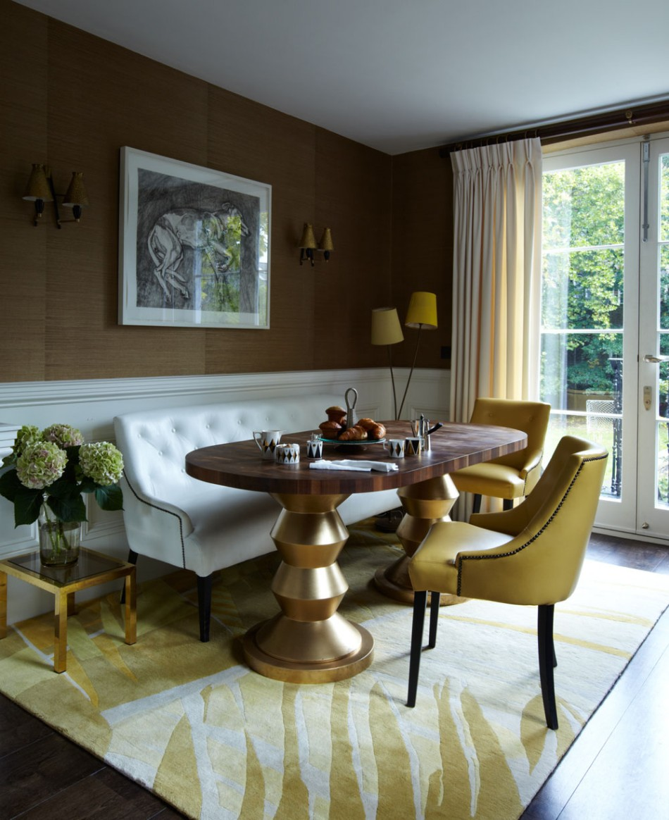 5 Dining Room Ideas By Peter Mikic To Get Inspired | www.bocadolobo.com #interiordesign #interiors #petermikic #top100interiordesigners #luxurydesign #luxuryhouses #moderndiningtables #diningtable #diningroom @moderndiningtables