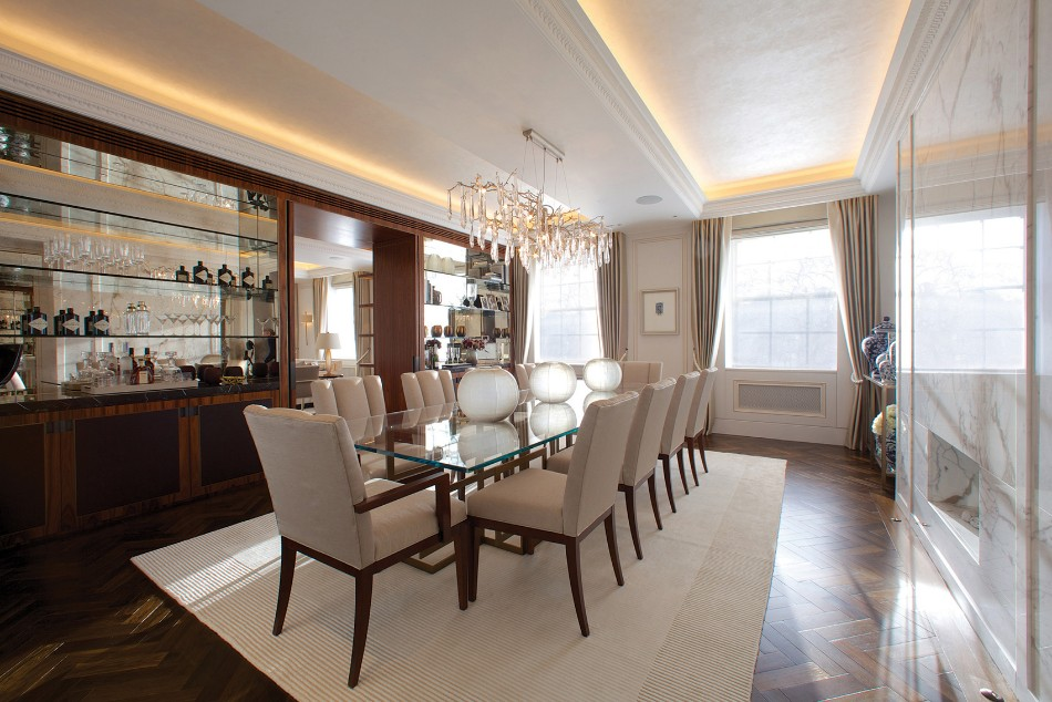 taylor howes Top 100 Interior Designers: Brilliant Dining Rooms by Taylor Howes Taylor Howes Grosvenor Square Dinning Room