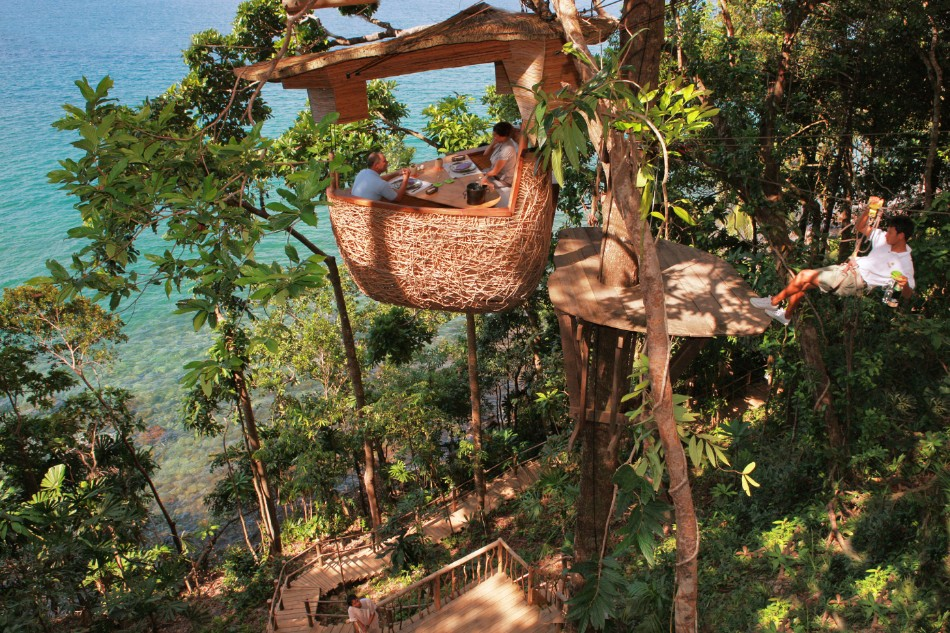unique restaurant 10 Unique Restaurants You Should Go At Least Once Treepod dining experience3 at Soneva Kiri by Cat Vinton