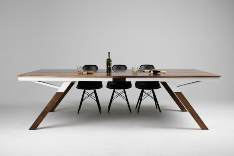 you can play ping pong in this modern dining table. Black Bedroom Furniture Sets. Home Design Ideas