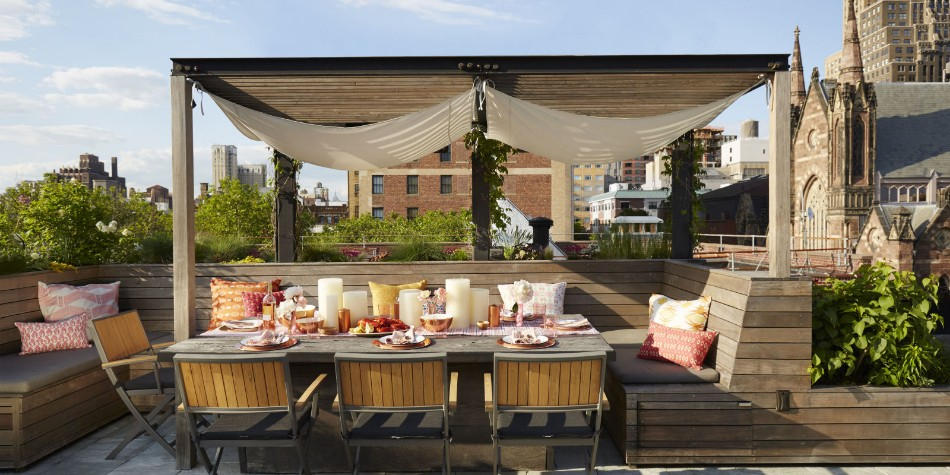 Rooftop Dining Room Rooftop Dining Room Ideas For This Summer landscape hbx080116kitchen02 1