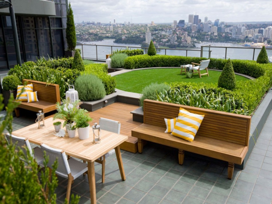 rooftop dining room Rooftop Dining Room Ideas For This Summer roof garden design plans roof garden landscape design af936c5cf689fe05