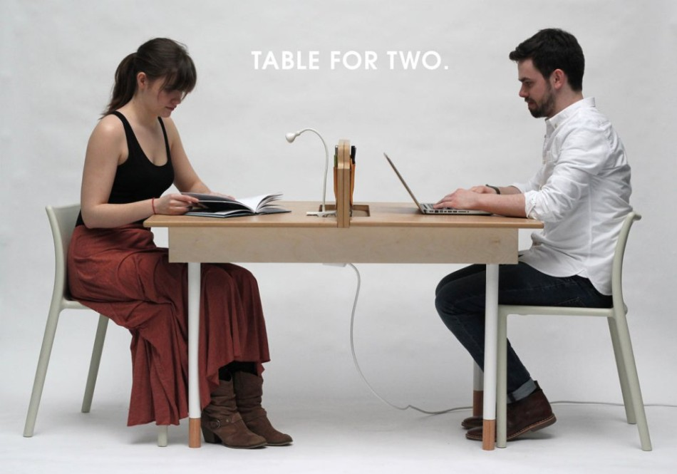 adaptable dining table A Modern Adaptable Dining Table table for two daniel liss 1 1