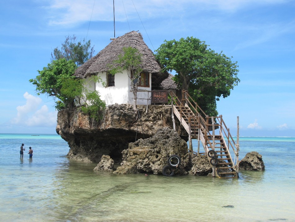 unique restaurant 10 Unique Restaurants You Should Go At Least Once the rock restaurant zanzibar
