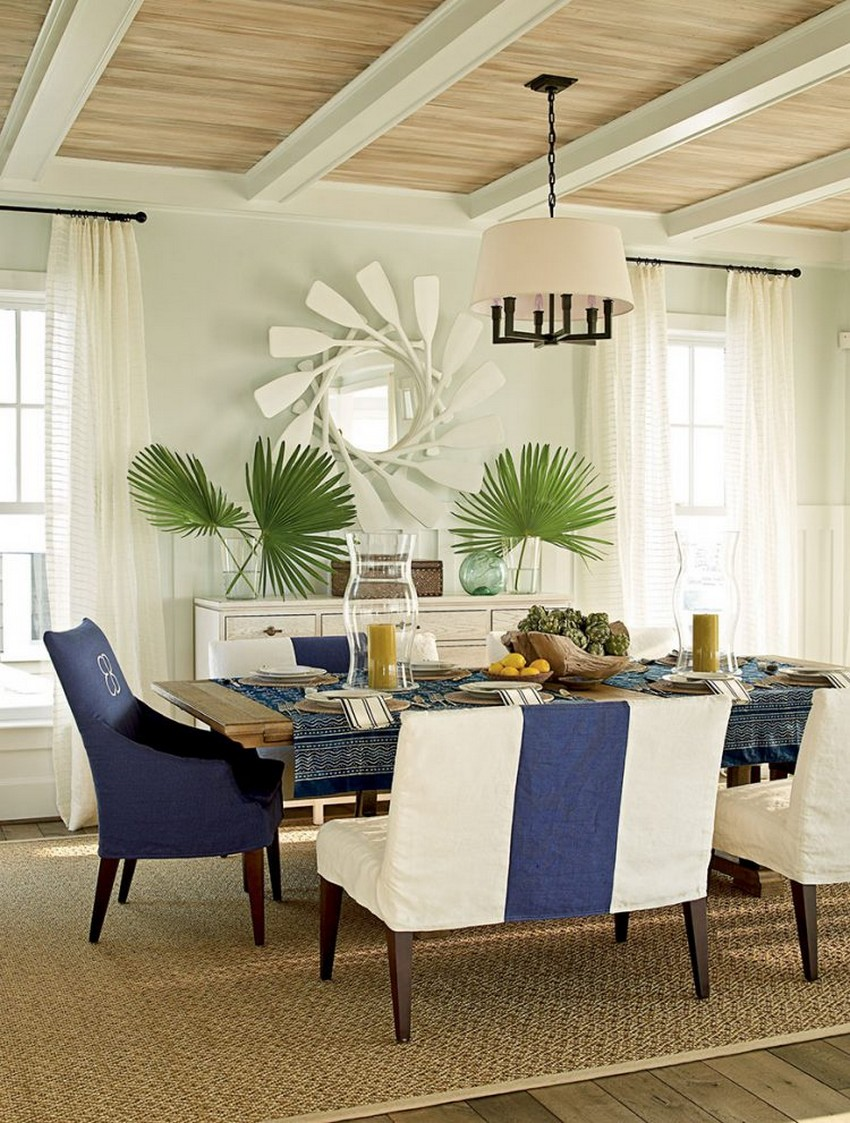 Beach style dining room designs for Beachy dining room ideas
