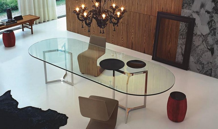 modern dining tables modern dining tables Top 25 Modern Dining Tables 1 Hundred Mile Gallotti and Radice Raj Light 1 l