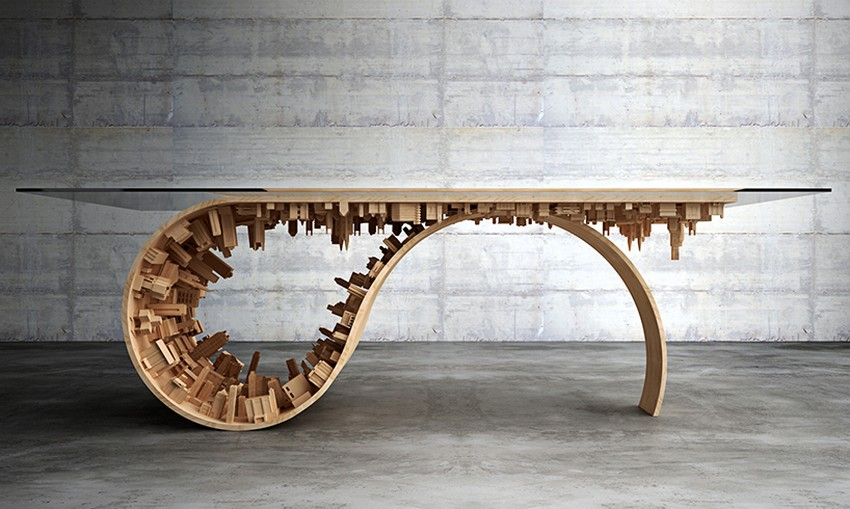 Modern Dining Table Modern Dining Table The Inception-Inspired Modern Dining Table By Telios Mousarris 1 mousarris wave city dining table designboom 03