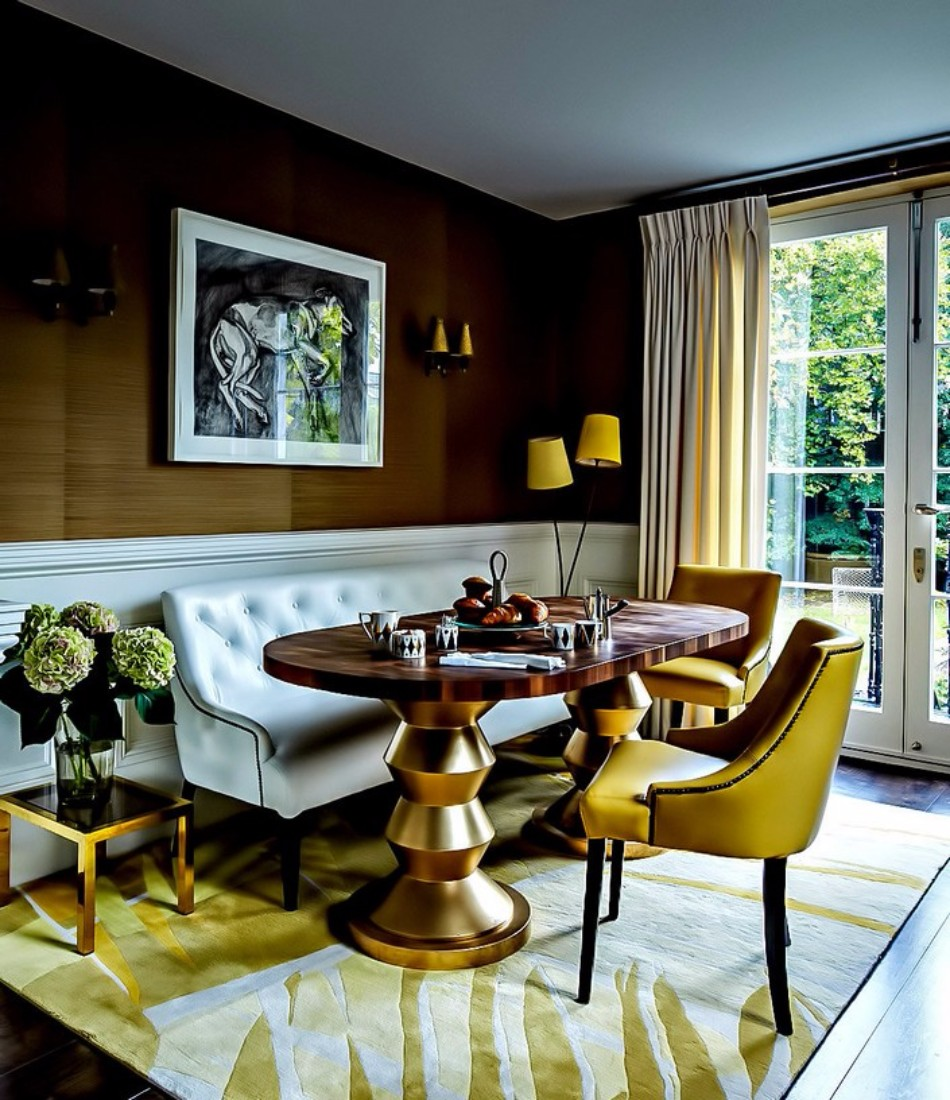 Luxury Interiors 10 Gold Dining Tables For The Most Luxury Interiors 10  Gold Dining Tables For. INTUITION BY KOKET