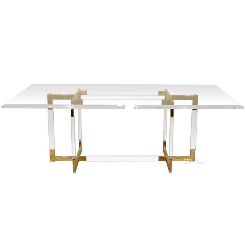 modern dining tables Amazing Cubist-Inspired Modern Dining Tables 11 Charles Hollis Jones Metric Collection Dining Table